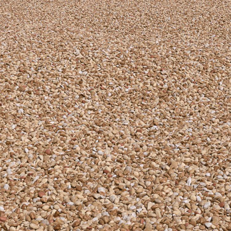 Golden Gravel Smooth - Large Area - Forest Pack library for